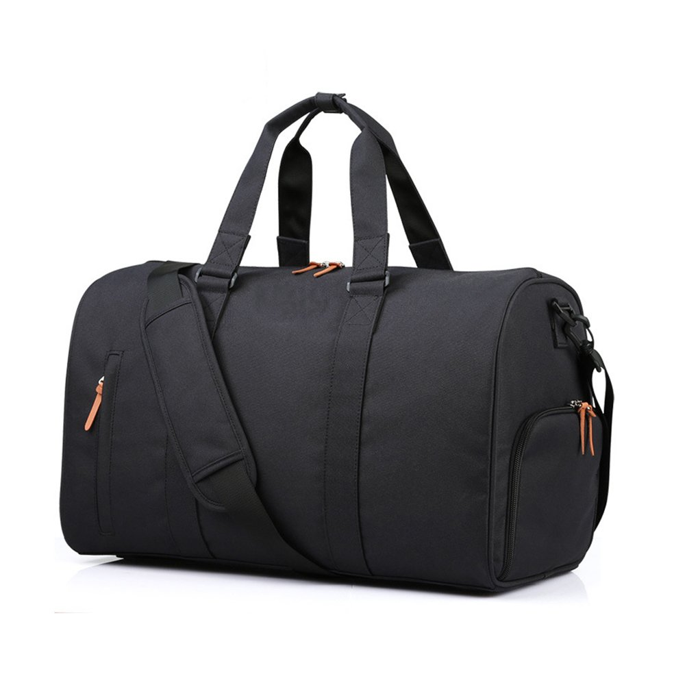 18.5'' Large Travel Tote Luggage Weekender Duffle Bag for Men and Women Unisex (Black)