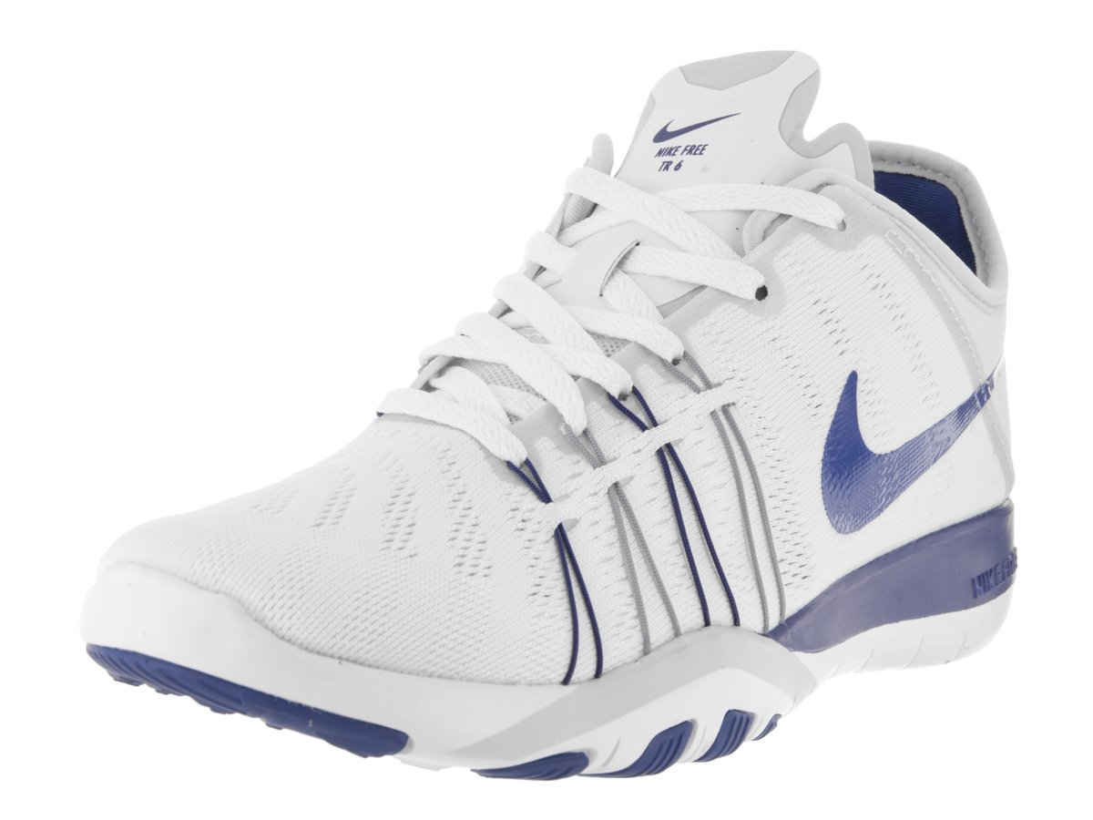 Womens Nike Free TR 6 Training Shoes B014GN2PLS 8 B(M) US|White/Game Royal-pure Platinum