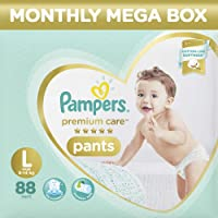 Pampers Premium Care Pants Diapers Monthly Box Pack, Large, 88 Count