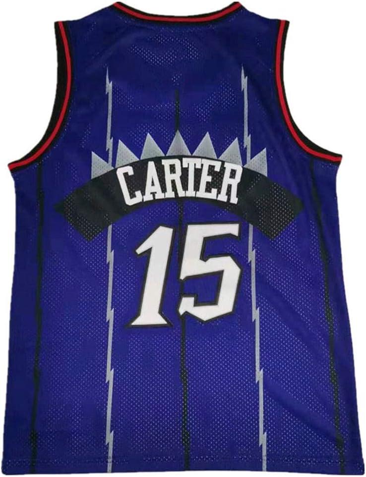 Unisex Camiseta sin Mangas NBA Vince Carter # 15 Toronto Raptors Lvlo Baloncesto Desgaste Camiseta de Entrenamiento