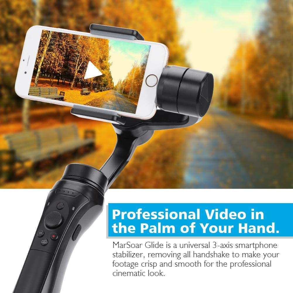 Oumij MarSoar 3-Axis Handheld Gimbal Stabilizer Glide Three-axles Bluetooth Gimbal Time-Lapse Shooting Face Tracking Stabilizer Gimbal Stabilizer Accessories