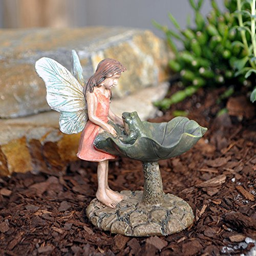 Marshall Home MG4 Fairy Gardening Fairy with Frog, 3″ Review