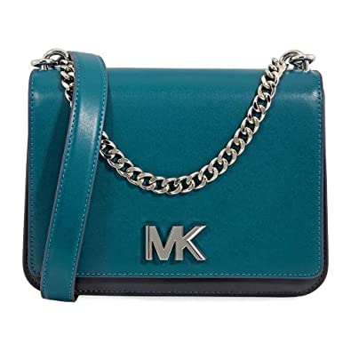 6b97dde28cca Michael Kors Mott Large Chain Swag Leather Shoulder Bag  Handbags   Amazon.com
