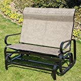 PatioPost Glider Bench Outdoor 2 Person Loveseat Chair Patio Porch Swing with Rocker