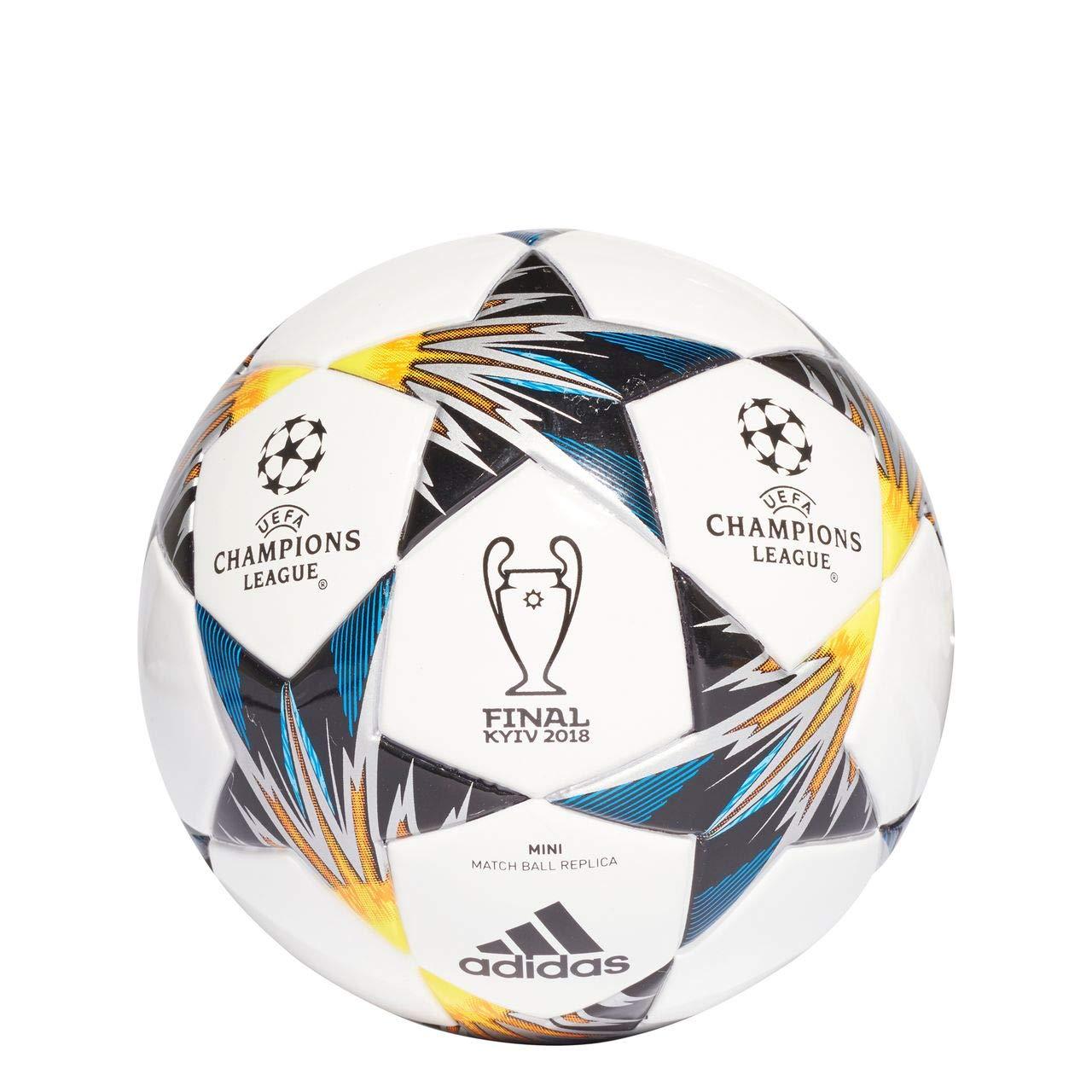 adidas Finalekiev Mini Balón, Hombre, (Blanco/Negro/Amasol/Azul ...