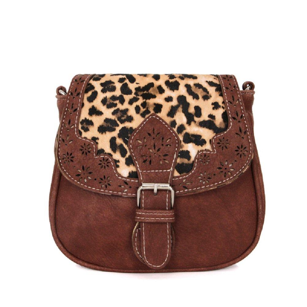 Small PU Leather Messenger Bag, Urmiss Fashion Leopard PU Leather Crossbody Bag Mini Shoulder Bag and Handbags