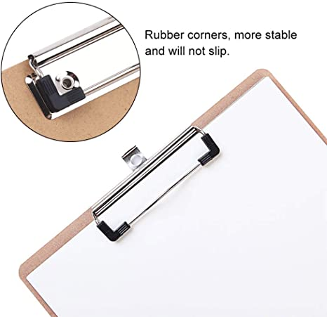 LuLyL 10 Pack Mountable Clipboard Clips,Spring Loaded Surface Mount Handle with Rubber Grip and Hanging Hole