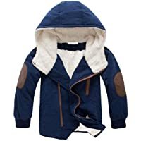 Gaorui Boys' Winter Hooded Down Coat Jacket Thick Wool Inside Warm Faux Fur Outerwear Coat