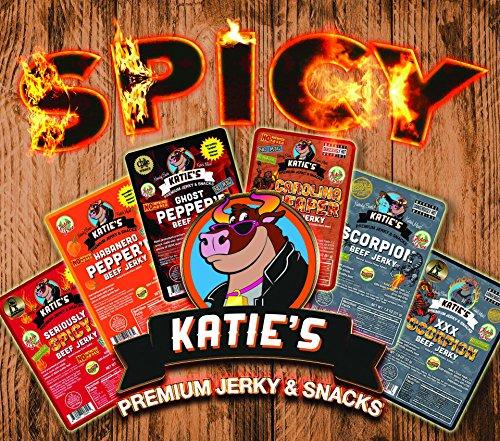Super Spicy Variety Pack, No MSG/NITRITES, GLUTEN FREE, Scorpion, Reaper, Ghost, Habanero, Cayenne