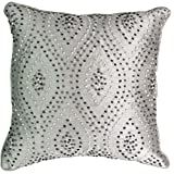 Beautyrest 16327016X016PGA Chacenay 16-Inch by 16-Inch Knotted Decorative Pillow, Paloma Grey