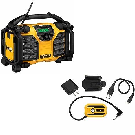 Amazon.com: DCR015 12 V/20 V Max Worksite Radio y cargador ...