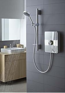 Aqualisa Lumi Electric Shower 105kW White Chrome Illuminated Modern LME10521