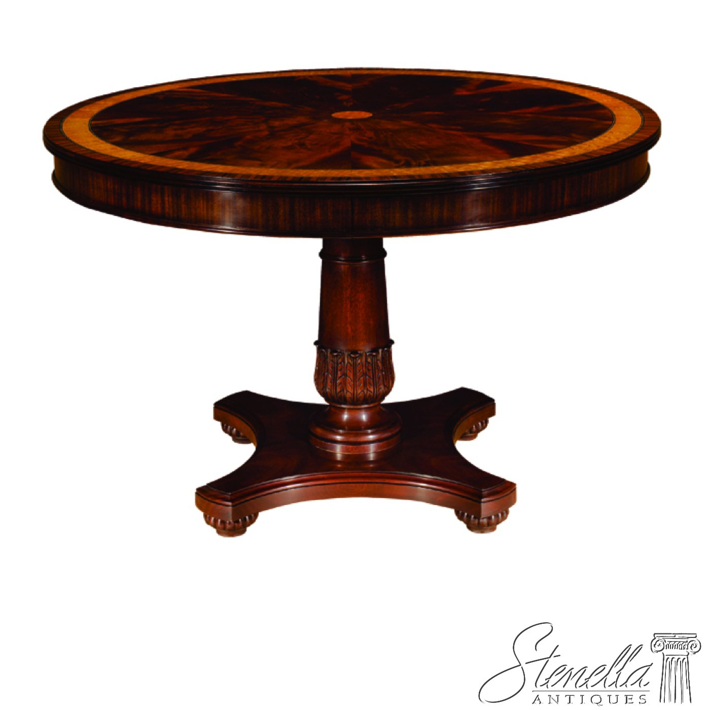 Henkel Harris Dining Table Amazoncom Henkel Harris Round Pedestal Mahogany Center Or