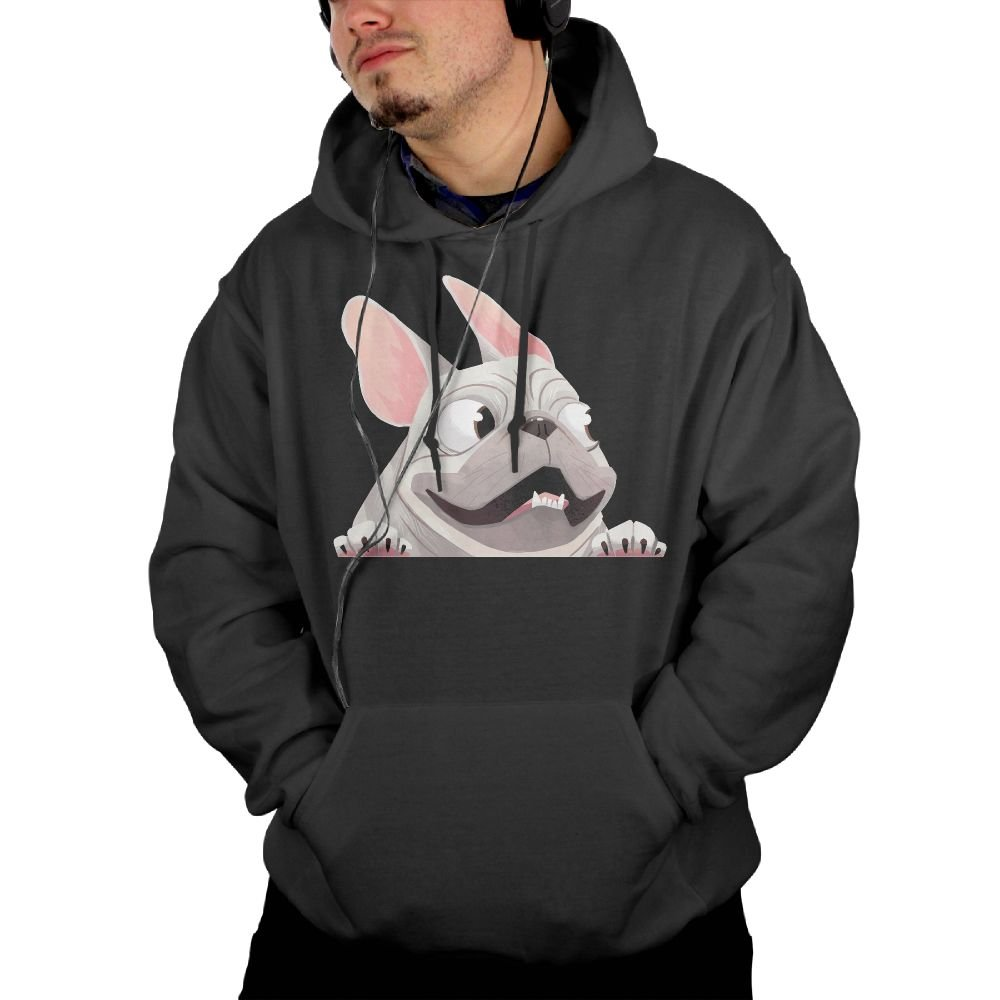 f93c94fd8 Men's French French French Bulldog Hoodie Black 737757 - cupwor ...
