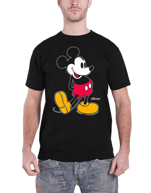 Paradiso Clothing Disney T Shirt Mickey Mouse Kick Logo New Official Mens Black