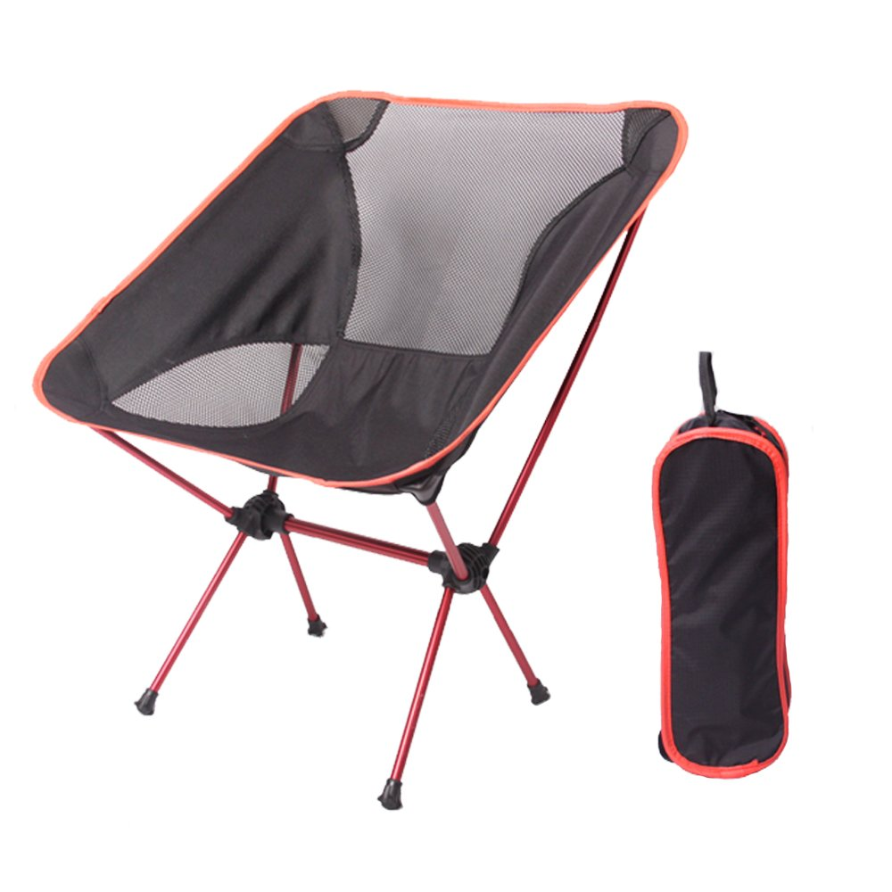 rouge  RENJUN Chaise Pliante extérieure Dossier portable Renfort Simple Ultra léger Camping Fournitures Seul Tabouret de Toile de Loisirs Chaise de déjeuner Folding Chair (Couleur   vert)