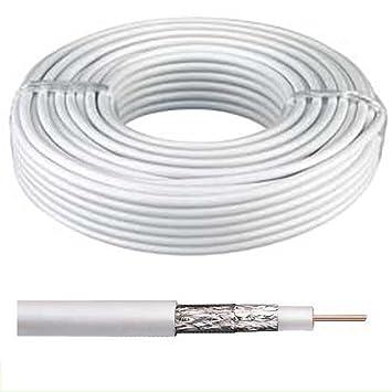 20 m – Cable coaxial para antena de satélite RG6 cable de antena