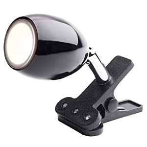 Newhouse Lighting NHCLP-JO-BK Joe LED Clip On Lamp & Reading Spotlight Perfect For The Office, Study & Bedroom, Black
