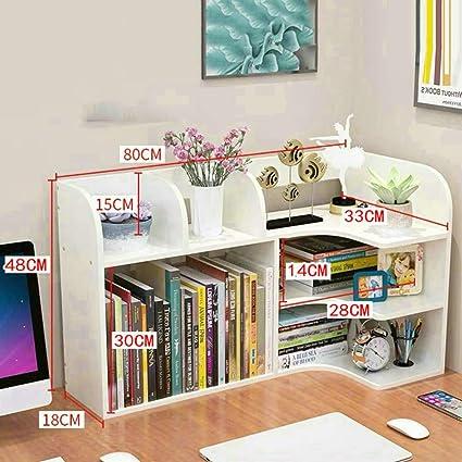 Madera Organizador Sobremesa,multiusos Estantería De Escritorio Para Escritorio Vanity Mesa En El Hogar U Oficina-blanco 80x18x48cm(31x7x19inch): Amazon.es: Oficina y papelería