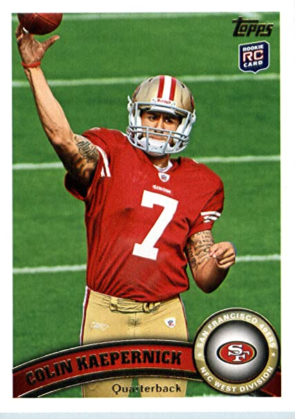 2011 Topps Football Card 413 Colin Kaepernick Rc Passing The Football San Francisco 49ers Rc Rookie Card Nfl Trading Card In A Protective