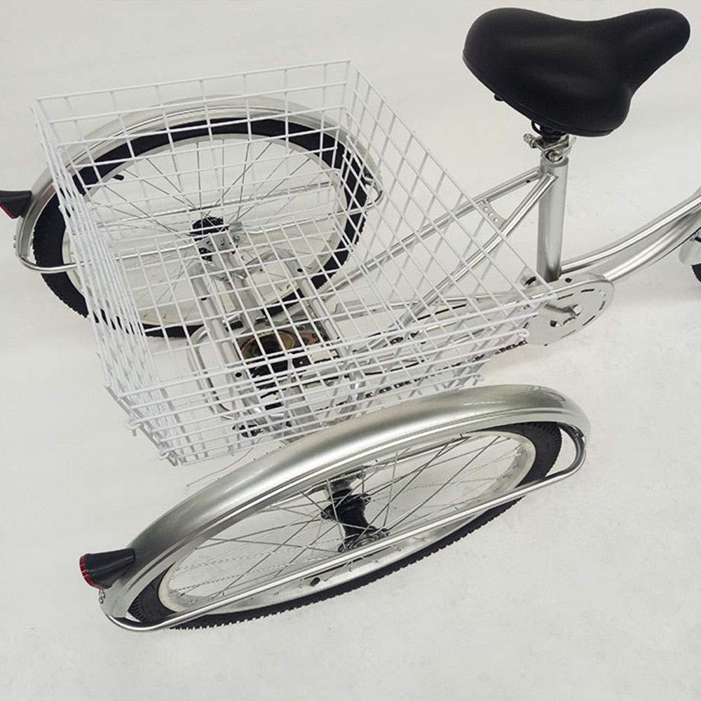 OU BEST CHOOSE Dreirad Erwachsene 24 6 G/änge R/äder Fahrr/äder Senioren Fahrrad Erwachsenendreirad w//Licht /& Korb