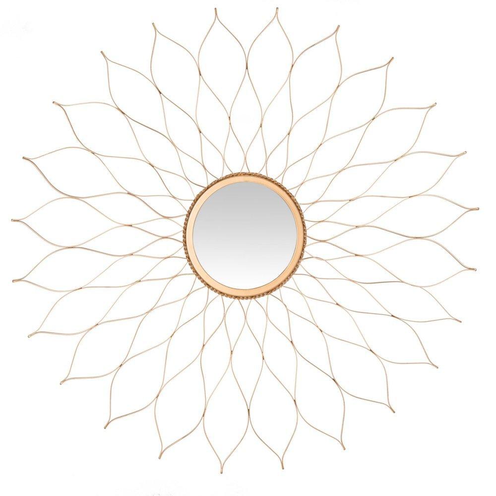 Safavieh MIR3000B Home Collection Gold Flower Mirror,Gold