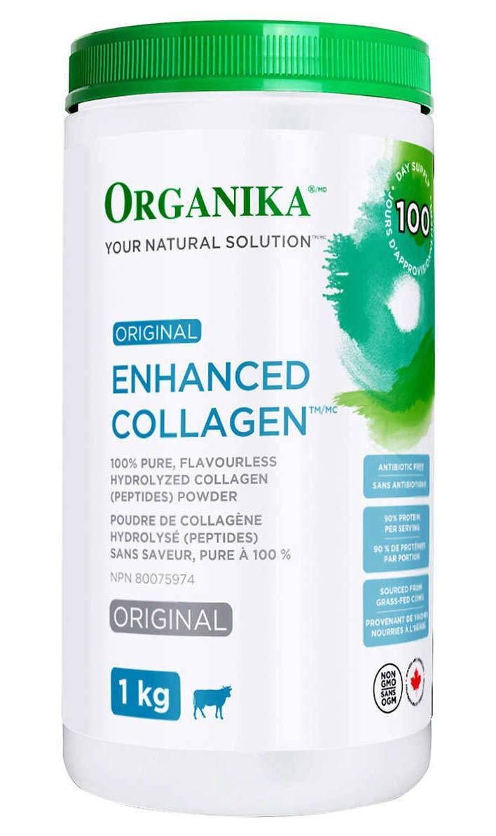 Organika Original Enhanced Collagen, 100% Pure, flavourless hydrolyzed Collagen (peptides) Powder, 1kg