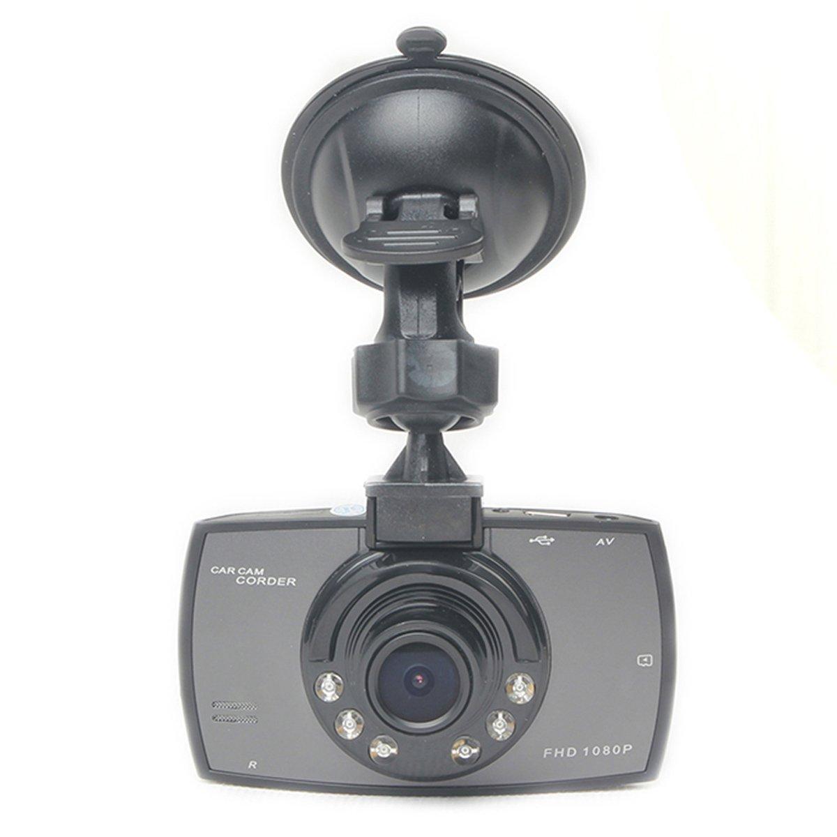 Camé ra embarqué e pour voiture HD, DVR, 1080p, avec vision de nuit, dé tection de mouvement, surveillance stationnement, grand-angle 170 ° , camé ra de tableau de bord de secours 2.7 détection de mouvement grand-angle 170 °
