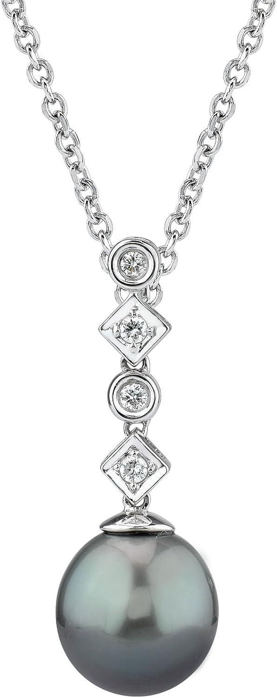 Pomo South Sea perlas bonitos y lámpara de techo colgante para Julia de diamante 18 K dorado