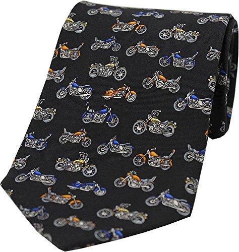 David Van Hagen Mens Motorbike Silk Tie - Black