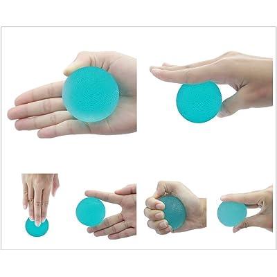 CC * CD Thérapie d'exercice en gel souple boules à la main doigt poignet l'arthrite (couleur aléatoire)