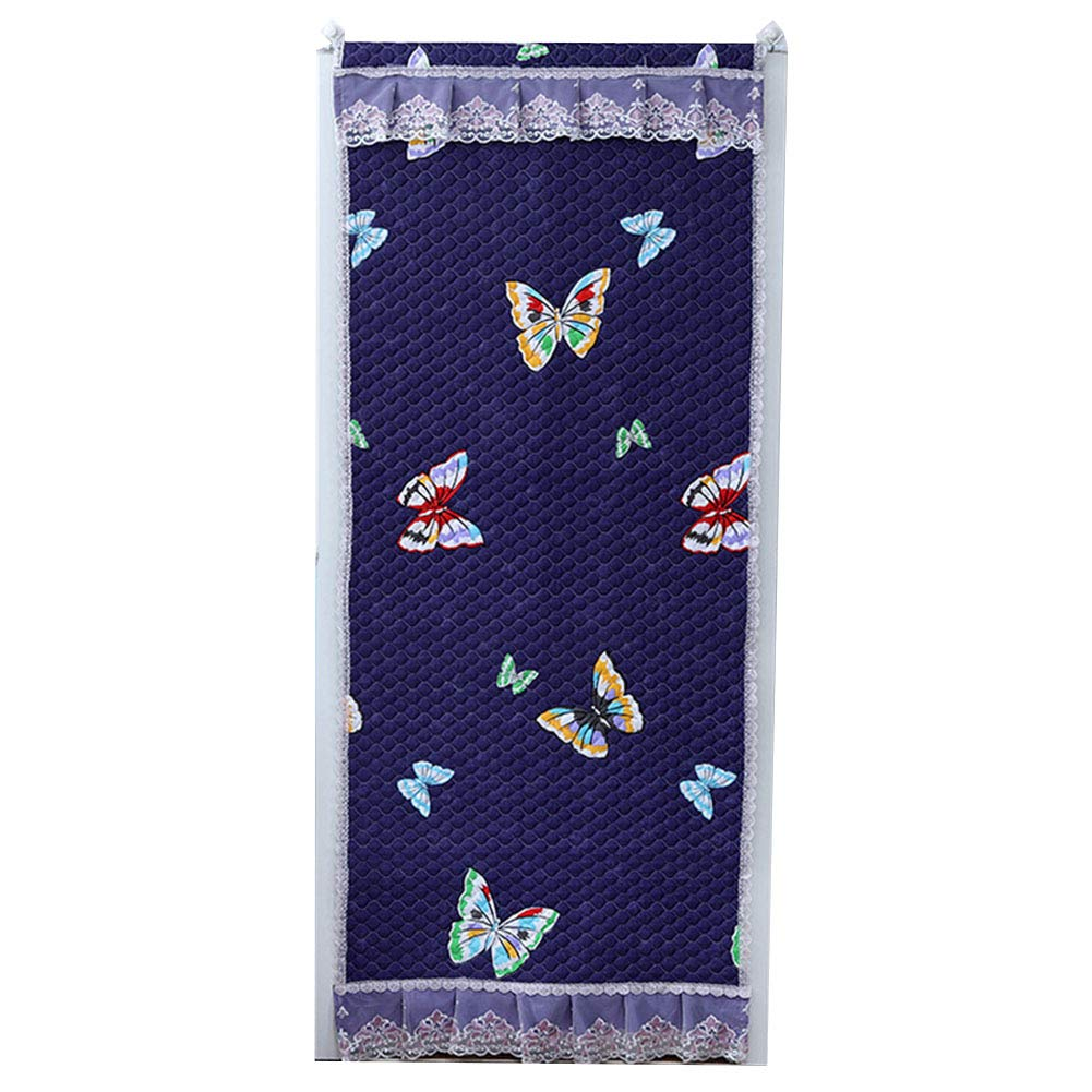 WUFENG Thermo-Türvorhang Verdicken Baumwolle Warm Halten Winddicht Schallschutz Stoffvorhang, 3 Farben Mehrere Größen Kann Angepasst Werden (Farbe   A, größe   90x220cm)