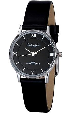 Armbanduhr schwarz leder