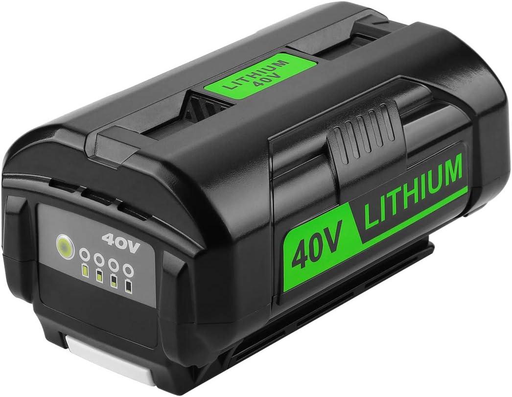 Energup 6.0Ah OP4050A 40V Lithium Ryobi Battery for Ryobi 40 Volt Battery Cordless Tools OP4015 OP4026 OP40201 OP40261 OP4030 OP40301 OP4040 OP40401 OP4050 OP40501 OP40601 Ryobi 40V Battery