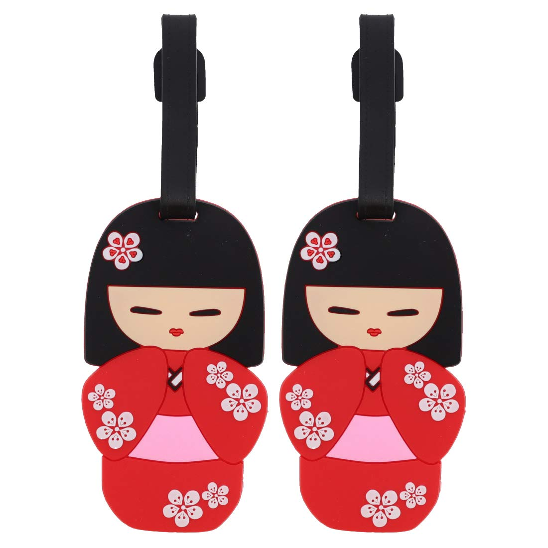 Kokeshi Luggage Tag Suitcase Labels - Set of 2 - Kokeshi