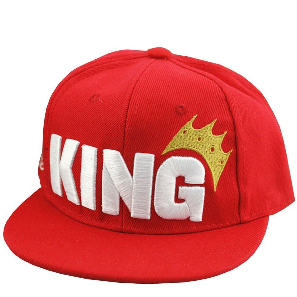 fe68e71c48b Amazon.com  Ma Baby Infant   Toddler Hip Hop Snapback Flat Brim Hats Lettre  King Cap (Black)  Clothing