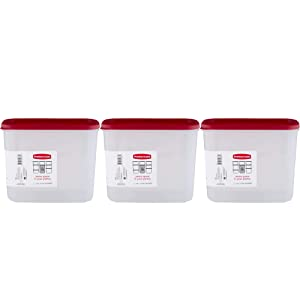 Rubbermaid 16-Cup Dry Food Container, 3-Pack