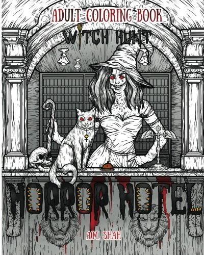 Adult Coloring Book Horror Hotel: Witch Hunt (Volume 3)