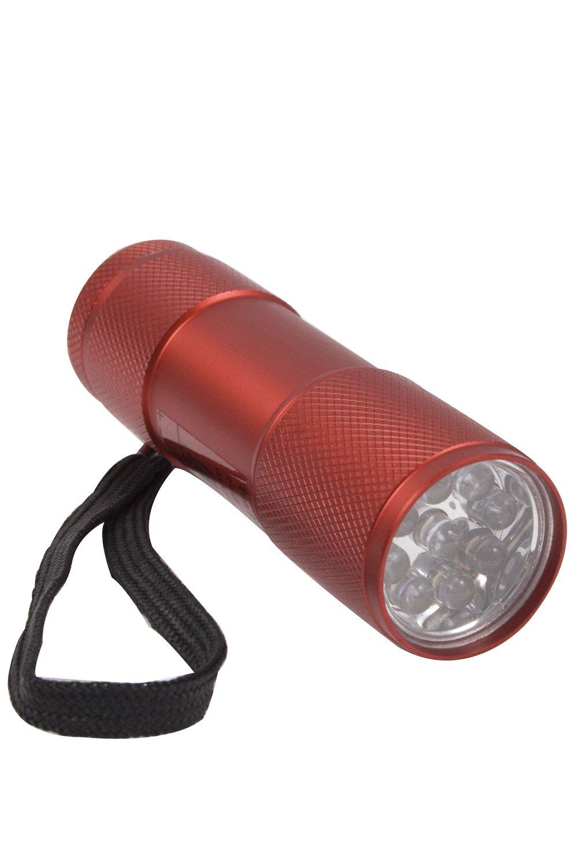 Mountain Warehouse Fun Antorcha del regalo de la diversión 9 LED - linterna de la correa de muñeca, 9 luces blancas del LED, luz durable de la antorcha, requiere 3 bater Rojo Talla única 015709044001