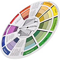MagiDeal Color Mixing Guide Wheel For Paint Matching Pigment Blending Palette Chart