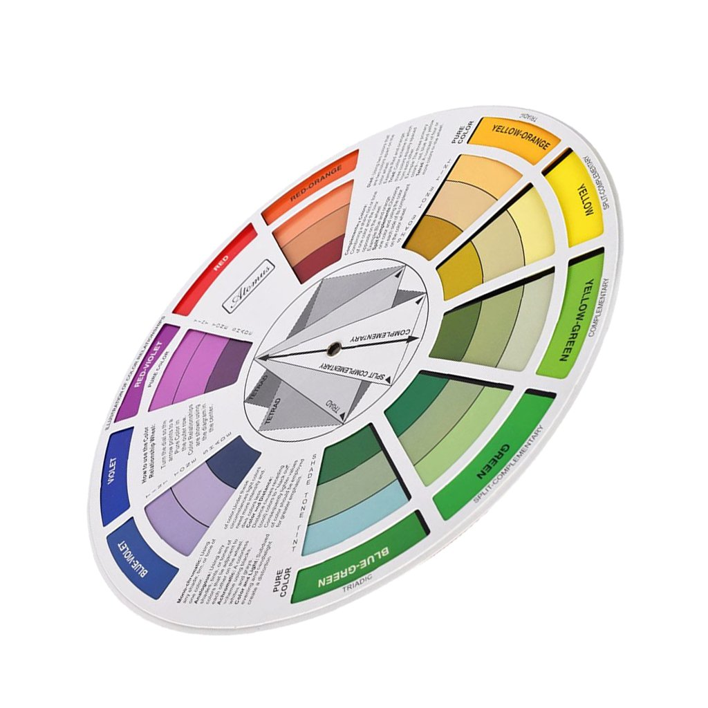 MagiDeal Rotella della Guida di Miscelazione di Colore per Paint Matching Pigmento Tavolo Palette Blending