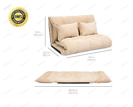 Sensational Amazon Com Libyou Foldable Floor Gaming Sofa Bed Loveseat Theyellowbook Wood Chair Design Ideas Theyellowbookinfo