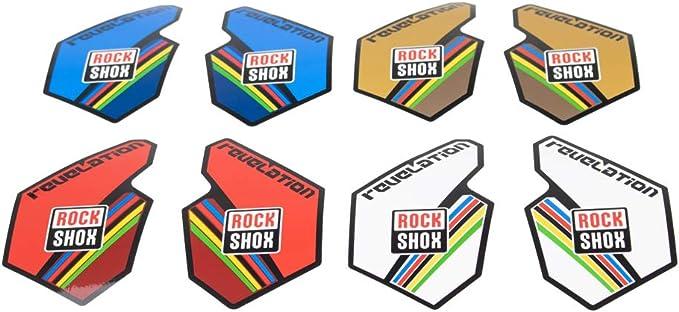 RockShox 2010-17 Revelation World Cup Lower Leg Decal Kit White