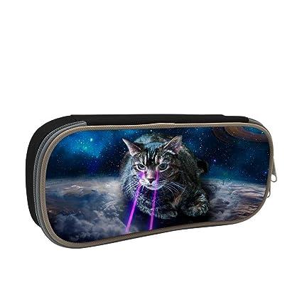 Estuche láser para lápices y gatos de gran capacidad, bolsa de papelería, organizador de