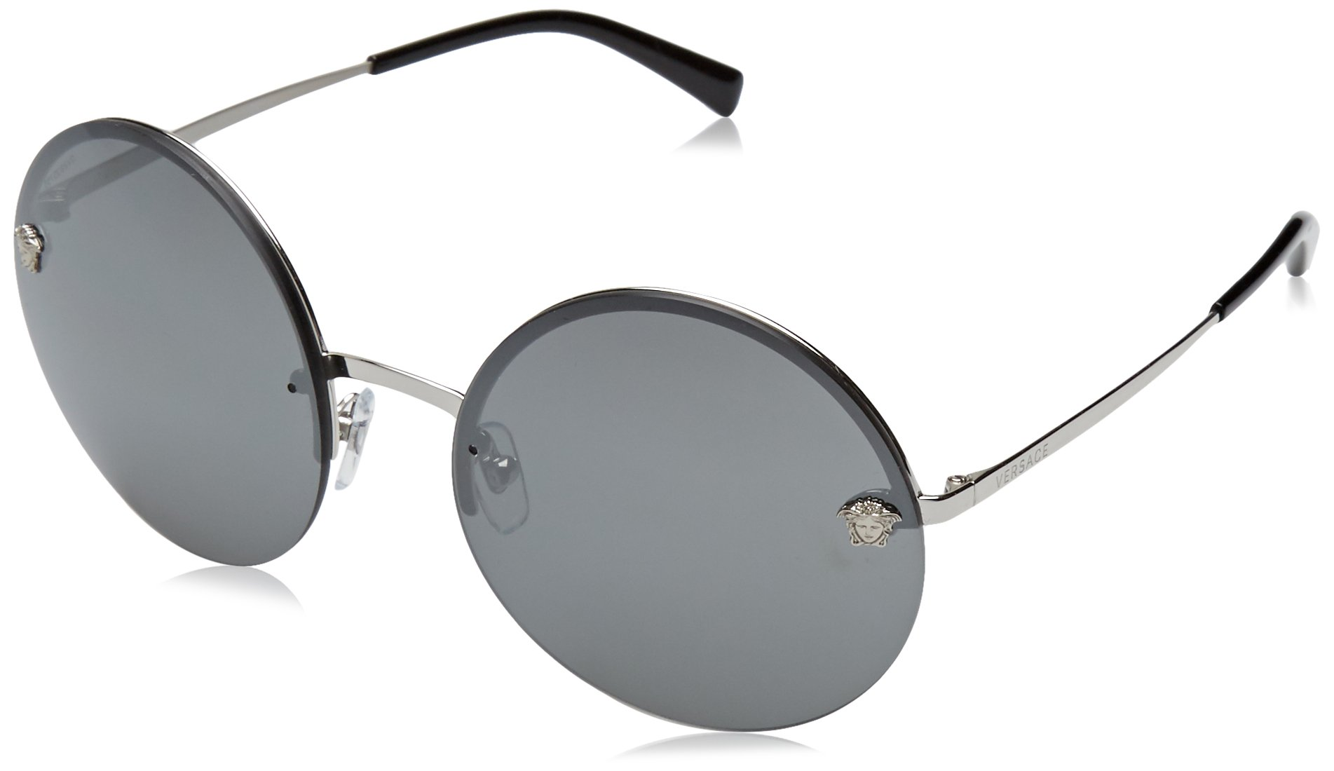 Versace Womens Sunglasses Silver/Silver Metal - Non-Polarized - 59mm