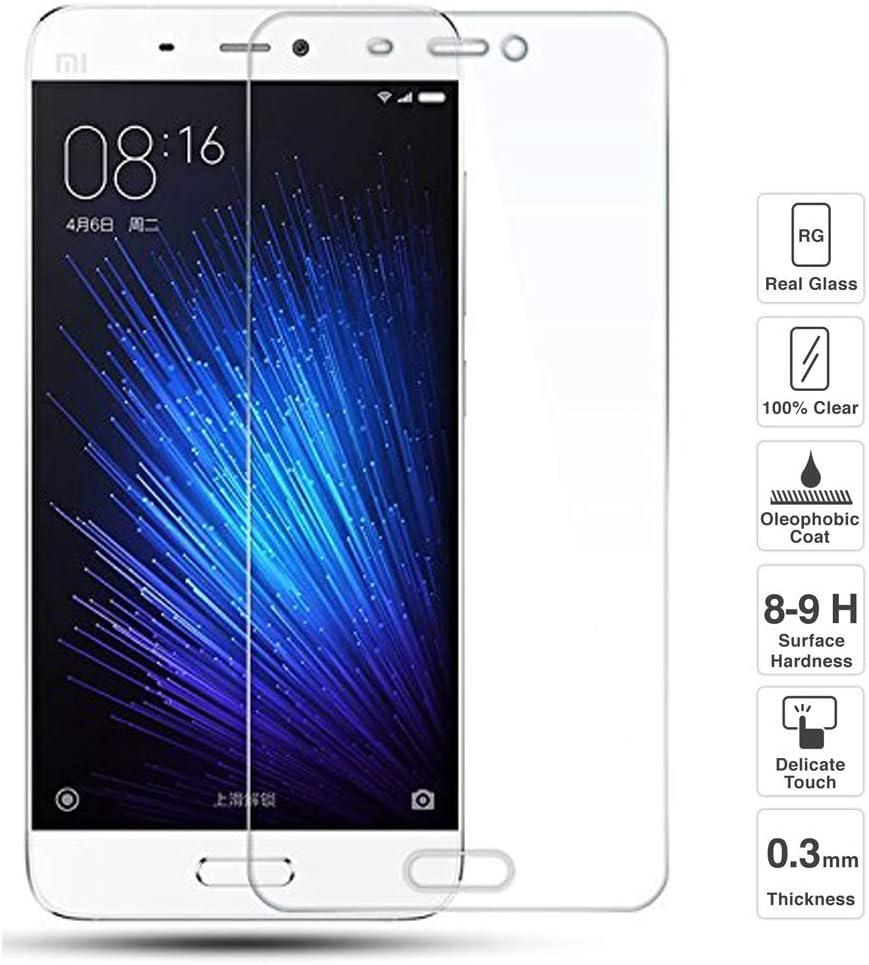 iGlobalmarket Protector de Pantalla Xiaomi Mi5 Mi 5, Vidrio Templado, sin Burbujas, Alta Definicion, 9H Dureza, Resistente a Arañazos