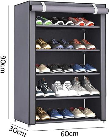 Estante de zapatos de acero inoxidable de Estante de zapatos fácil de montar Estantes de gabinete