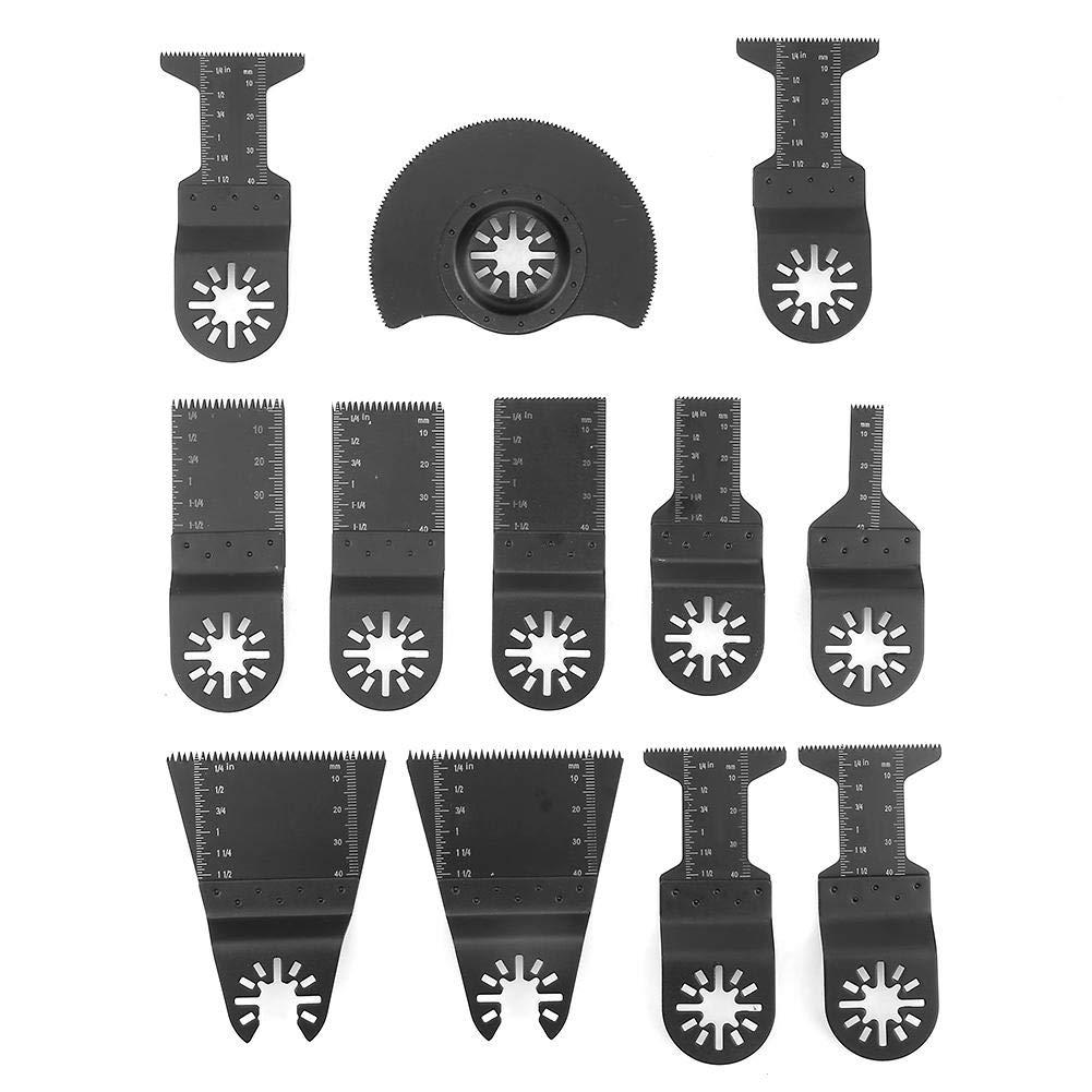 Coupe-Ongles Multifonctions pour Outils /électriques Riuty Lames de scie oscillantes 12pcs scie /à lib/ération Rapide pour Bois//m/étal et Plastique