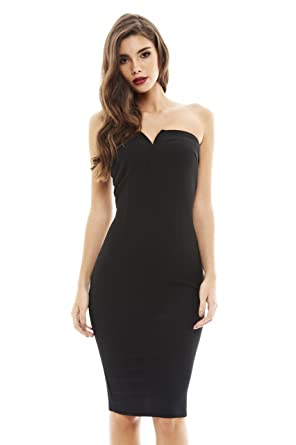 f08832e9bb Amazon.com  AX Paris Women s Sweetheart Bodycon Midi Dress  Clothing