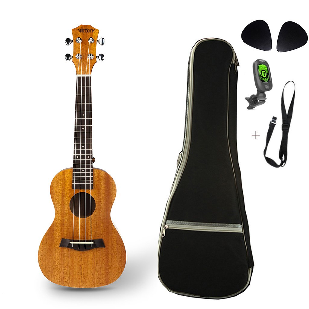 Victory's Concert Ukulele,-23Inch Mahogany Aquila Strings Pack With 5mm Bag *1 Straps *1 tuner*1--Natural color Victory's Concert Ukulele [Victory's] VC-23